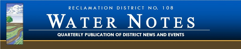 Water notes rd 108 39 s newsletter reclamation district for Knights landing fishing report